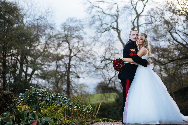 Winter Wedding photos at The Ashes in Staffordshire