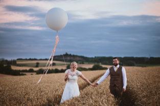 Rustic and fun wedding at Donington Park Farmhouse