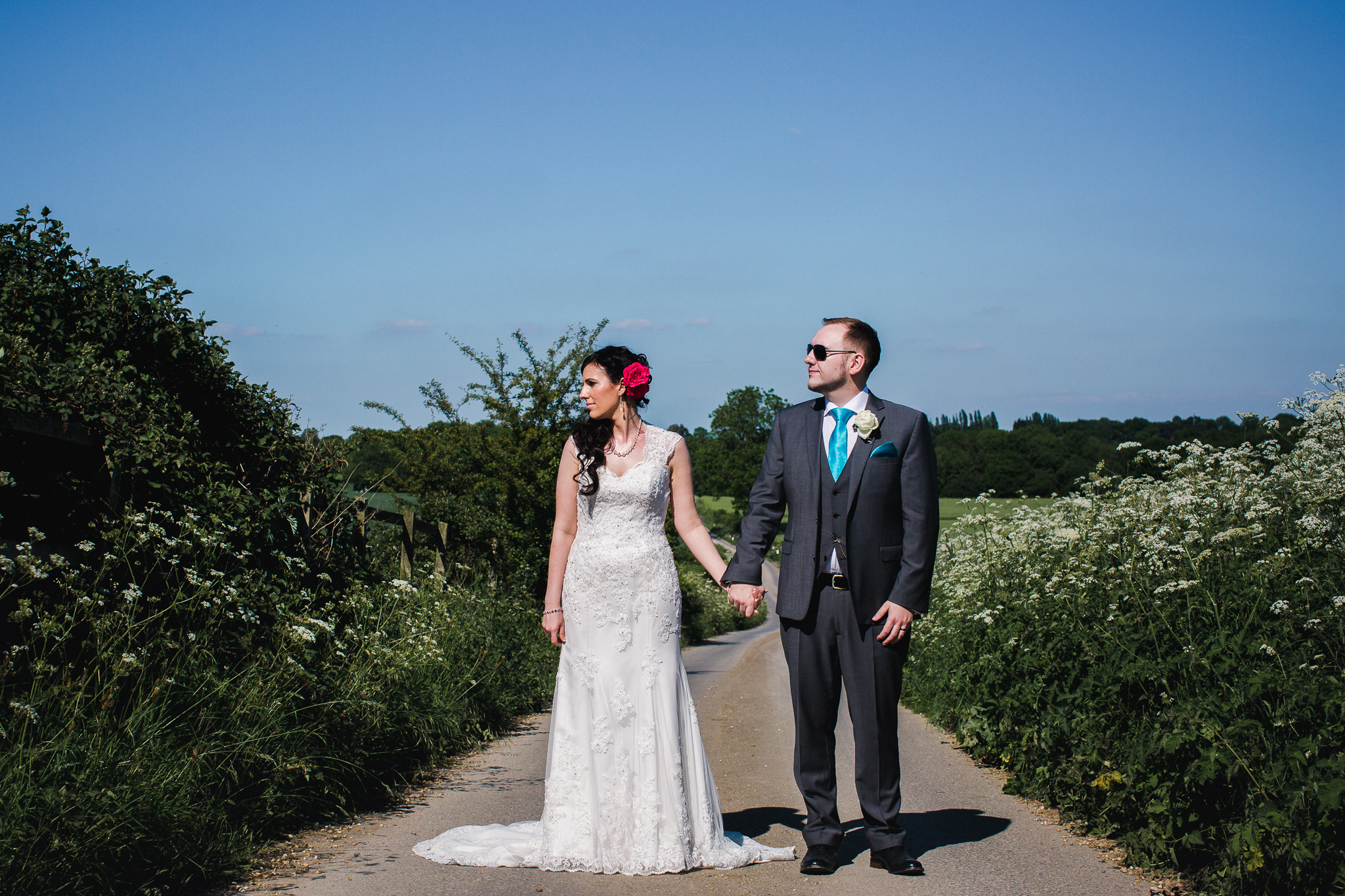 Alice and David - A very sunny Swancar Farm Wedding